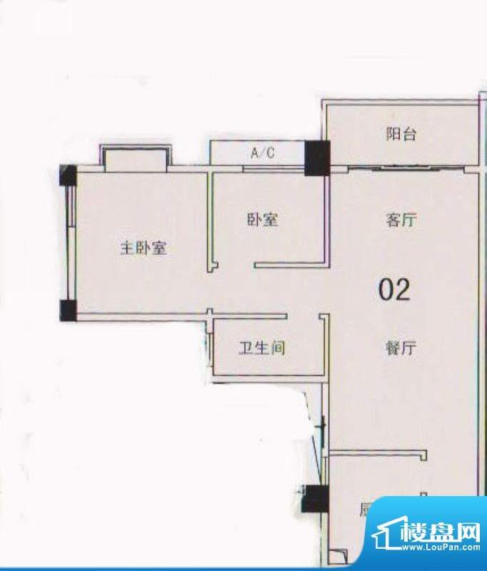 锦隆花园二期12座3-面积:77.90平米