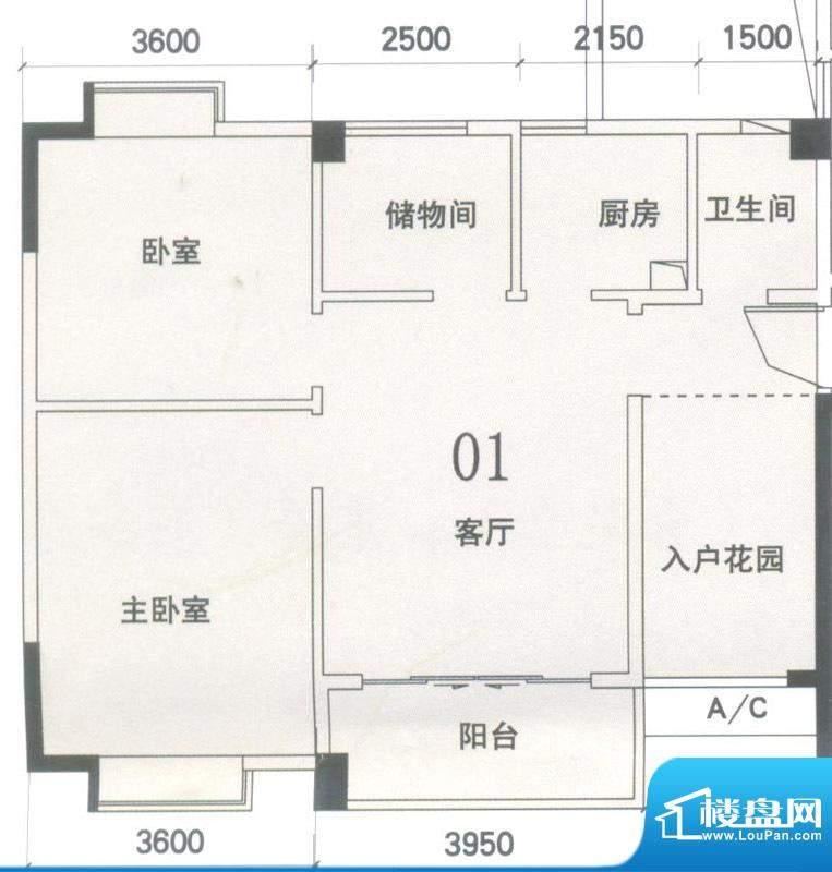 锦隆花园二期15座2-面积:80.47平米