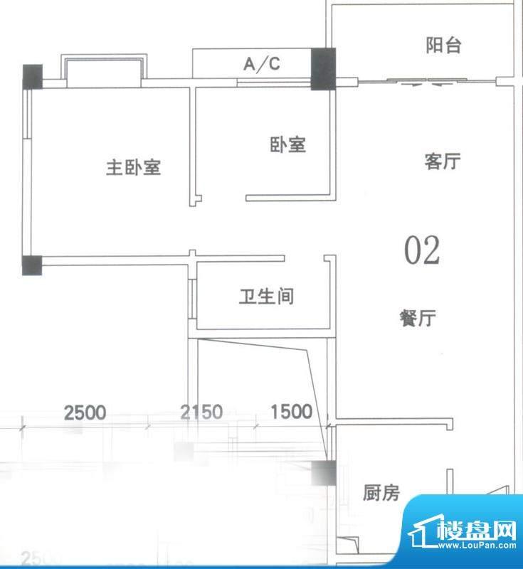 锦隆花园二期15座2-面积:78.00平米