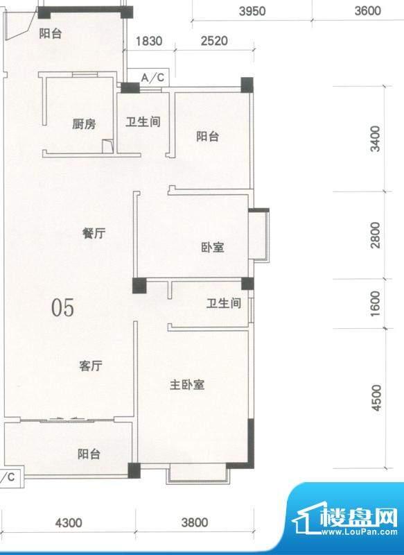 锦隆花园二期15座2-面积:114.88平米