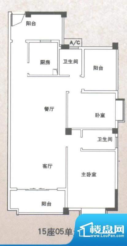 锦隆花园二期15座05面积:114.88平米