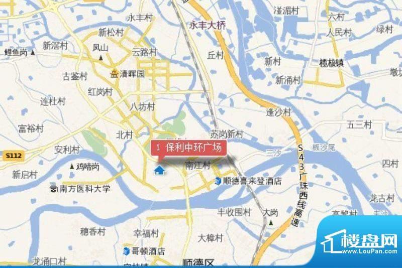 保利中环广场交通图