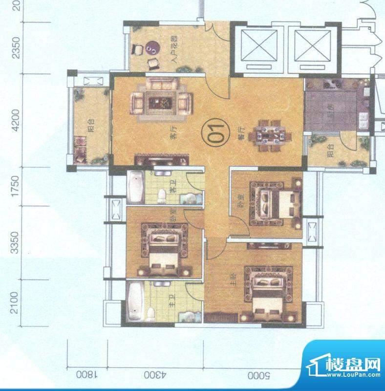 保利中环广场9座01单面积:139.00平米