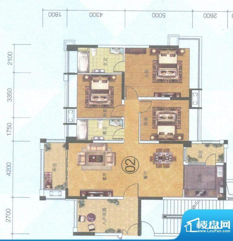 保利中环广场9座02单面积:144.00平米