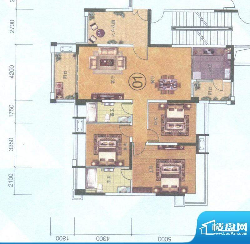 保利中环广场10座01面积:144.00平米
