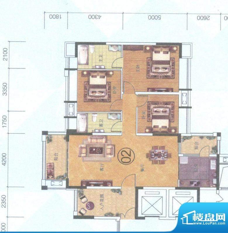 保利中环广场10座02面积:139.00平米