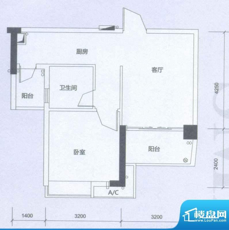 海逸卡拉公寓温馨居面积:53.00平米
