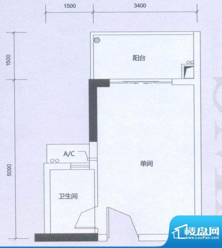 海逸卡拉公寓雅致居面积:33.00平米
