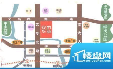文华尚领交通图