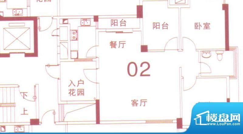 文华尚领3座02单元 面积:88.00平米