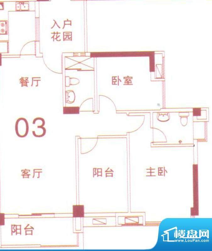 文华尚领3座03单元 面积:100.00平米