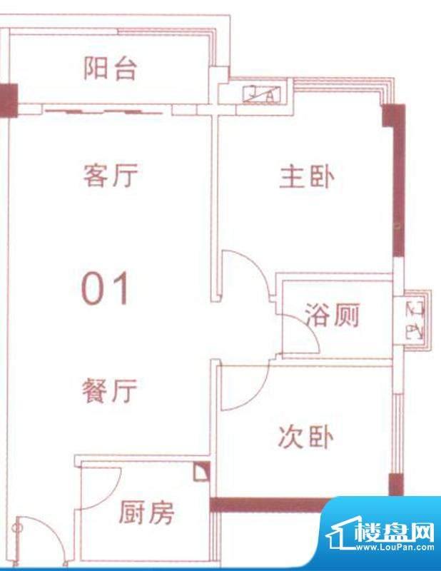 文华尚领5座01单元面积:78.00平米