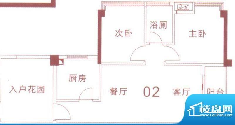 文华尚领5座02单元面积:78.00平米