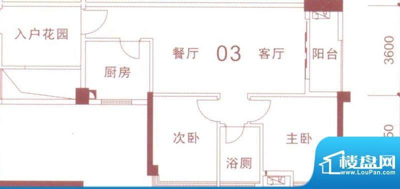文华尚领5座03单元面积:75.00平米