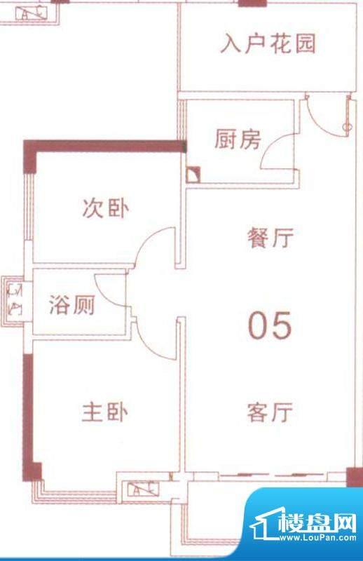 文华尚领5座05单元 面积:78.00平米