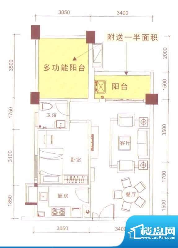 文华尚领乐活天地面积:66.00平米