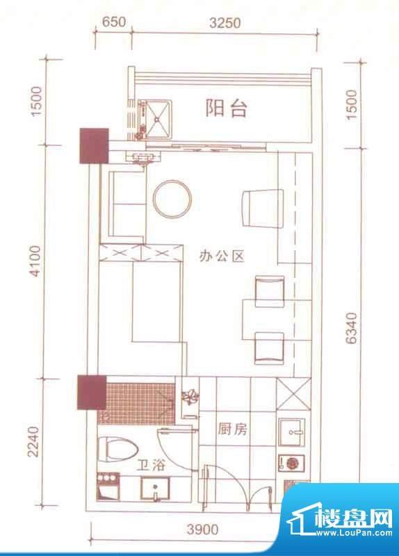 文华尚领soho一族面积:33.00平米