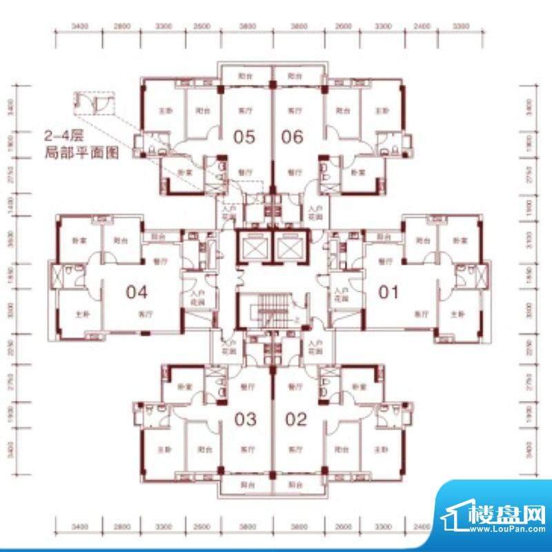 文华尚领2层01-06单面积:85.00平米