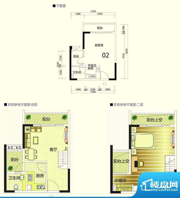 季华金品8座02 1室1面积:37.00平米