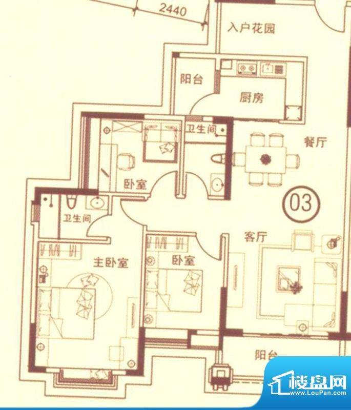 富星半岛5栋7座03单面积:125.00平米