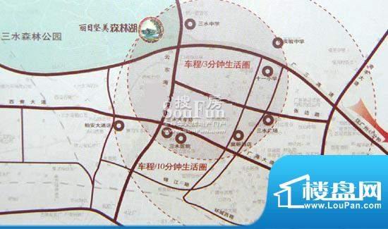 丽日坚美森林湖交通图