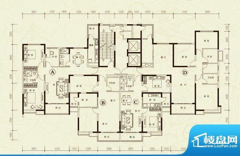 恒大城1#、2#楼标准面积:0.00平米