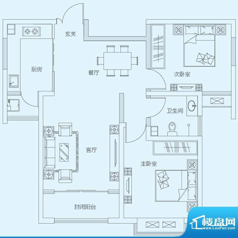 济南鲁能领秀城4#8#面积:95.00平米