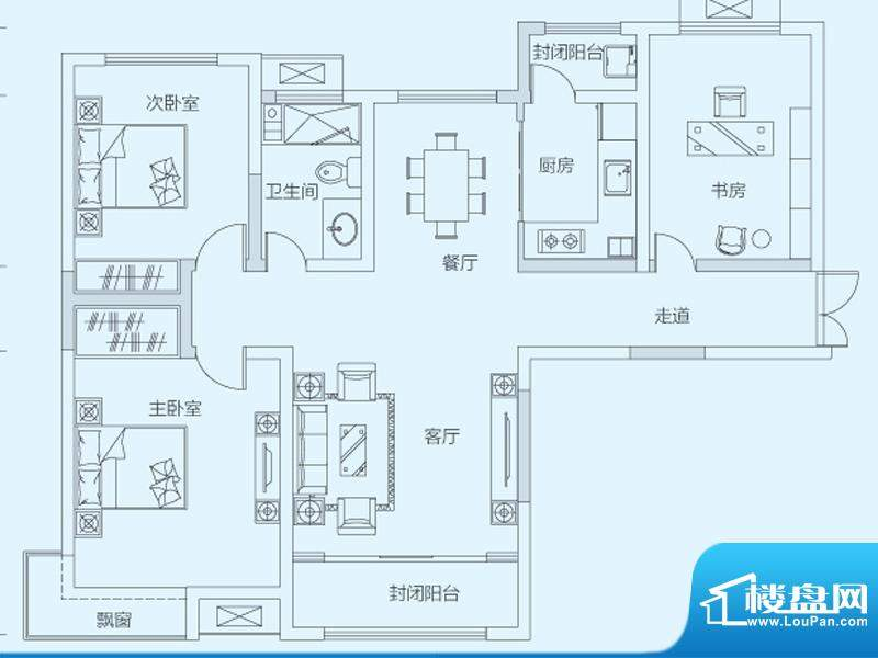 济南鲁能领秀城3#5#面积:109.00平米