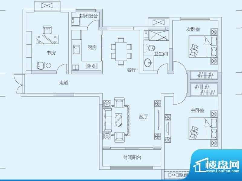 济南鲁能领秀城3#5#面积:111.00平米