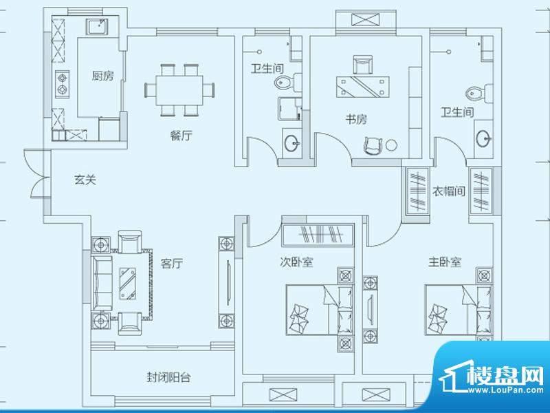 济南鲁能领秀城8#9#面积:128.00平米