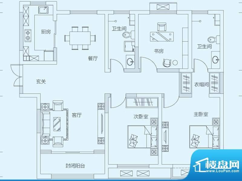 济南鲁能领秀城4#号面积:128.00平米
