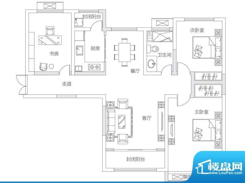 济南鲁能领秀城中央面积:111.00平米