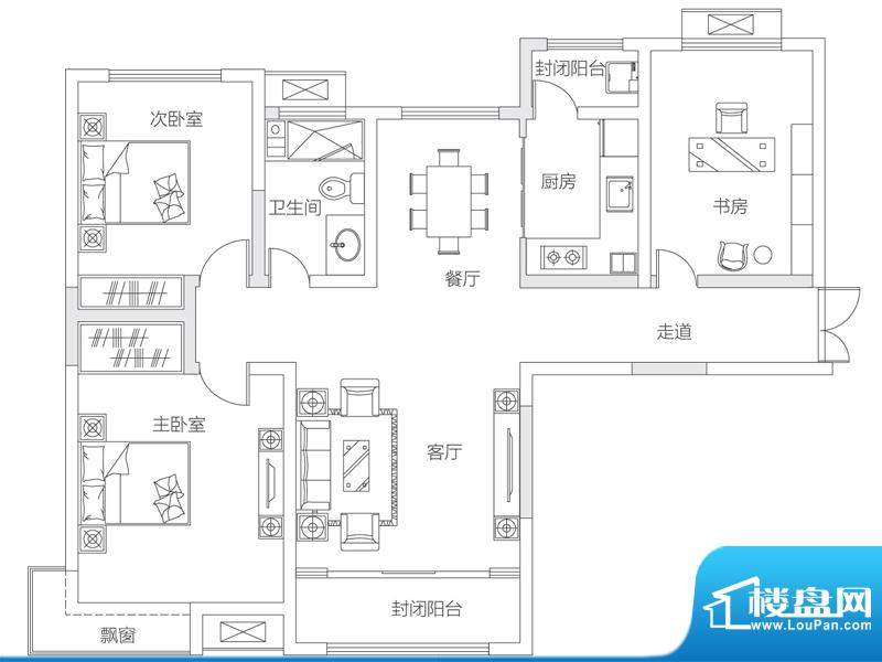 济南鲁能领秀城中央面积:109.00平米
