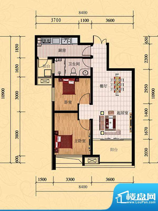 济南鲁能领秀城1号楼面积:88.73平米