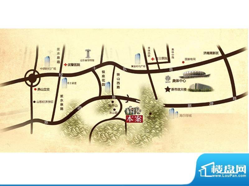 原山九号交通图
