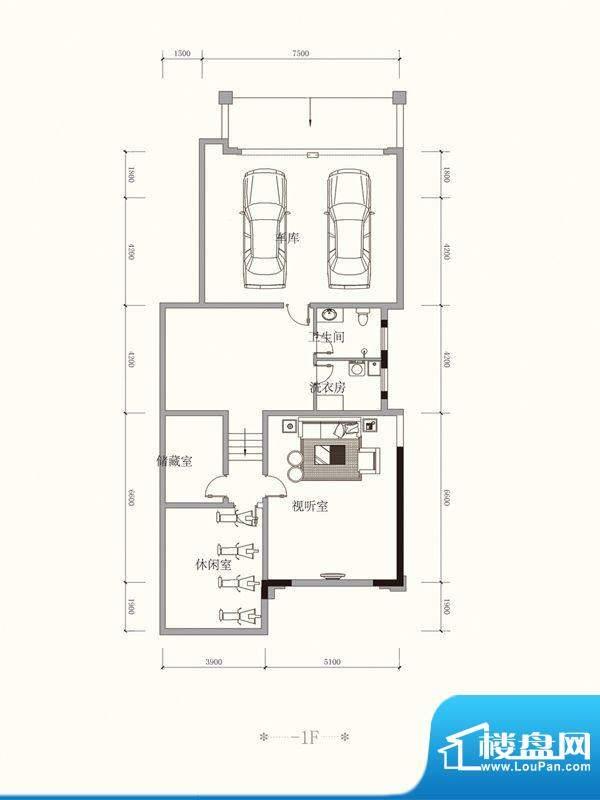 原山九号B双拼-1F户面积:511.11平米