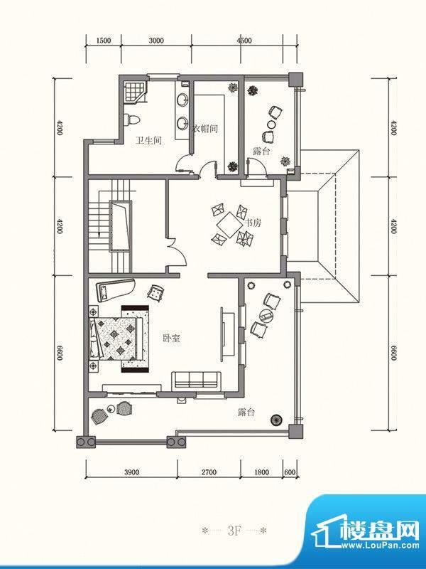 原山九号B双拼3F户型面积:511.11平米