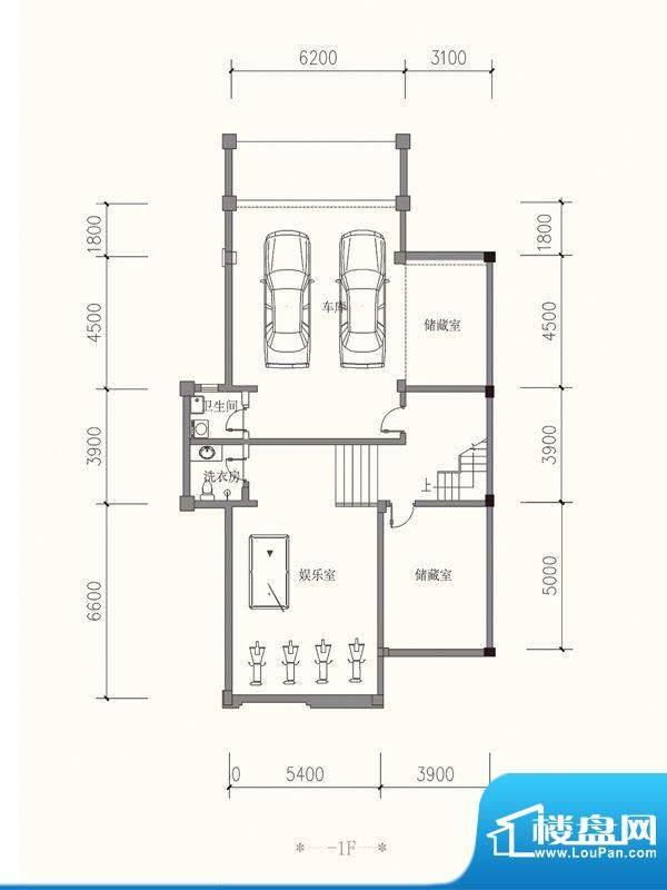 原山九号B1双拼-1F户面积:530.72平米