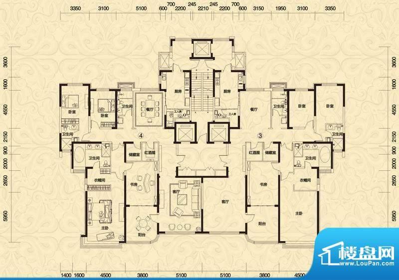 恒大御景5#楼高层2单面积:295.53平米