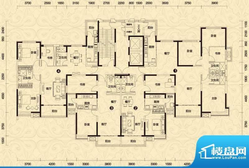 恒大御景1/2号楼高层面积:173.00平米