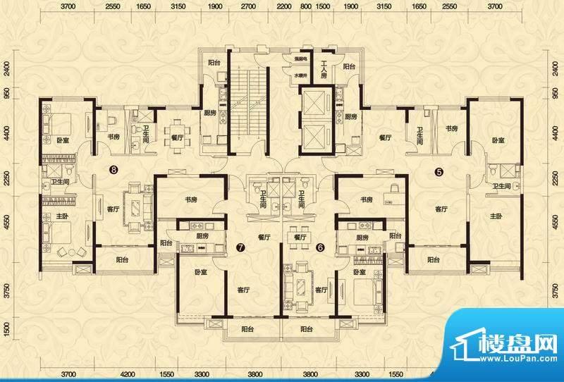 恒大御景3#楼高层2单面积:150.71平米