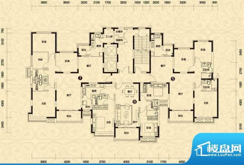 恒大御景4#楼高层2单面积:144.35平米