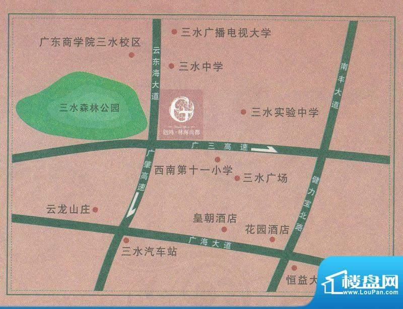 创鸿林海尚都交通图