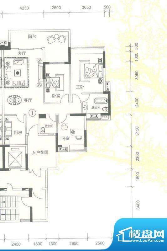 创鸿林海尚都雅林轩面积:124.88平米