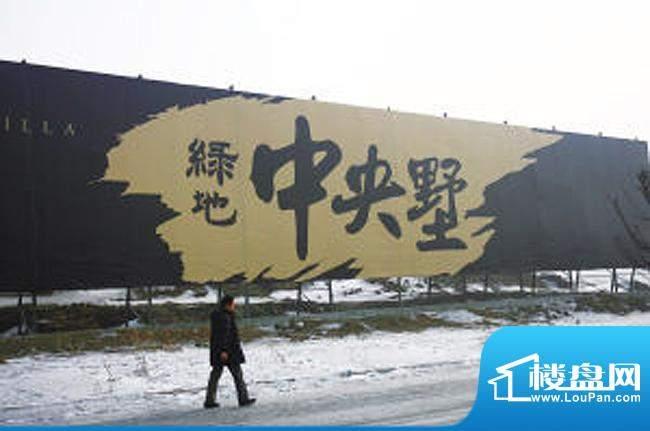 绿地中央墅围挡实景图(2011.2)