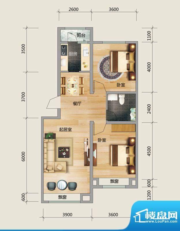 良品柏宏爱琴湾4#楼面积:94.20平米