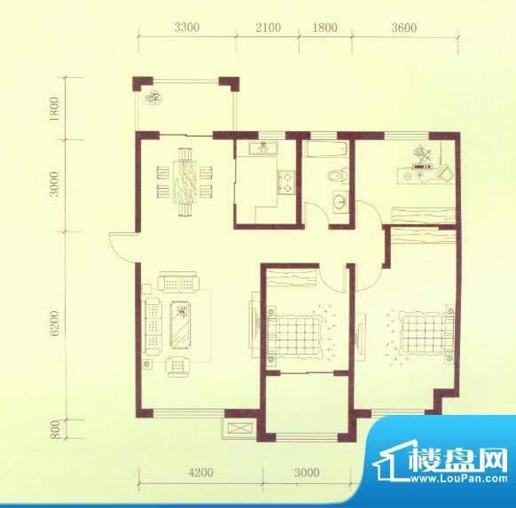 隆都翡翠湾一期A户型面积:121.00平米