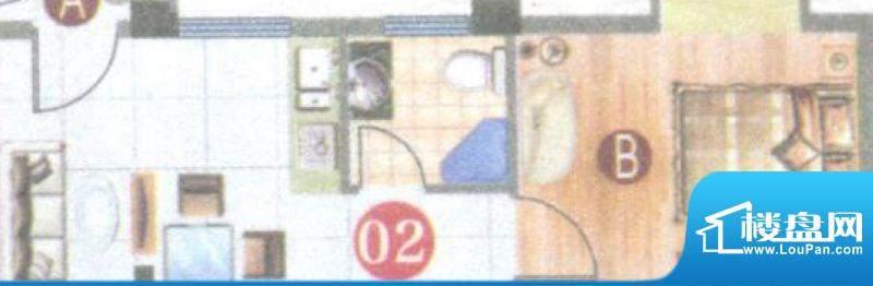 御璟上院02单元 1室面积:34.48平米