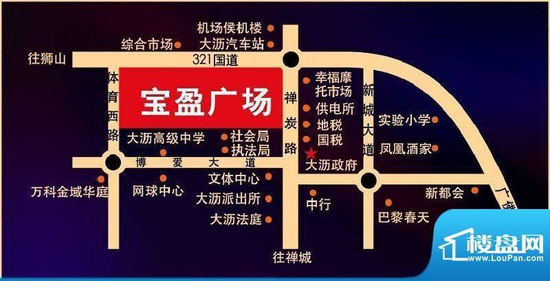 大沥宝盈广场交通图
