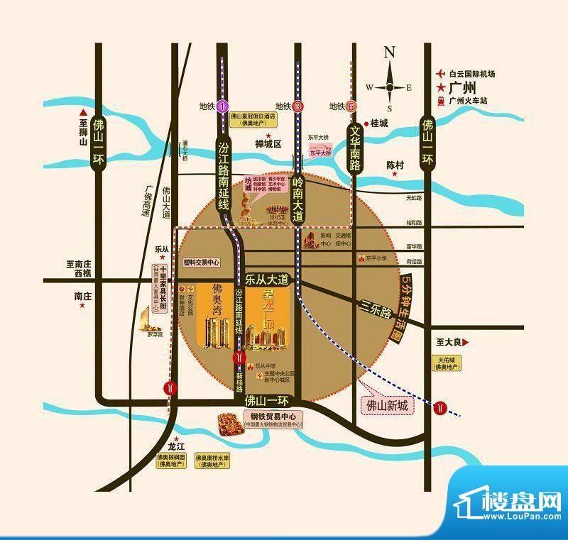 佛奥星光广场交通图